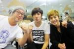 Kim Hyun Joong visit Kim Kyu Jong at Goong Musical Practice2