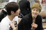 Kim Hyun Joong visit Kim Kyu Jong at Goong Musical Practice3
